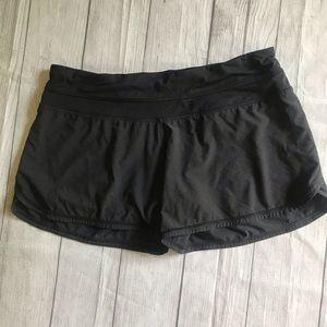 Lululemon black running shorts athletic workout 8